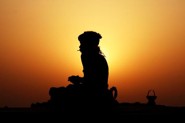 Sadhu at Dawn