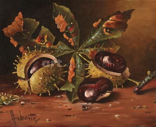 Three wild chestnut