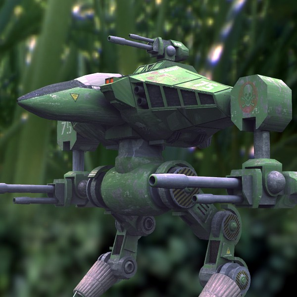 Cougar Robot Mech in Green