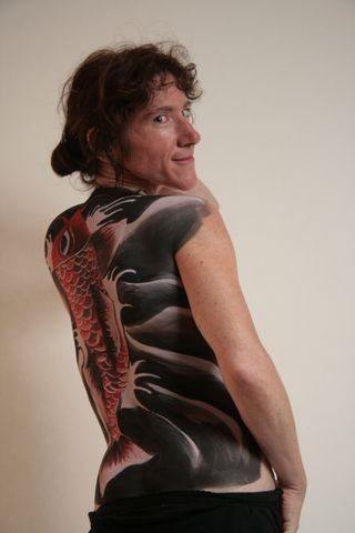 beautiful woman and body paint