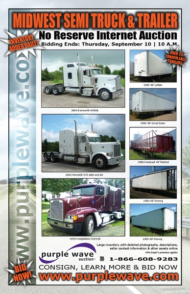 September 10 Truck Auction Flier