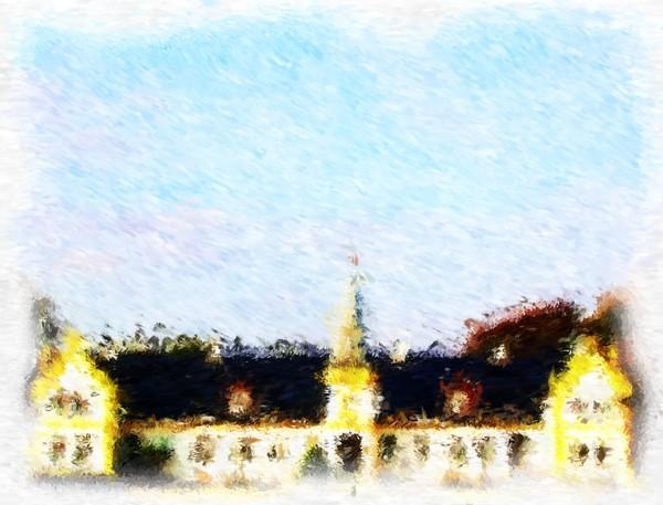 Agersboel Manor House Impressionist Digital Painting