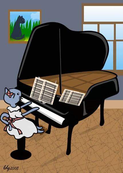 Cat Piano Recital