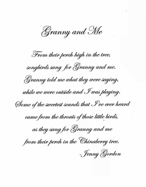 Poems About Granny 109