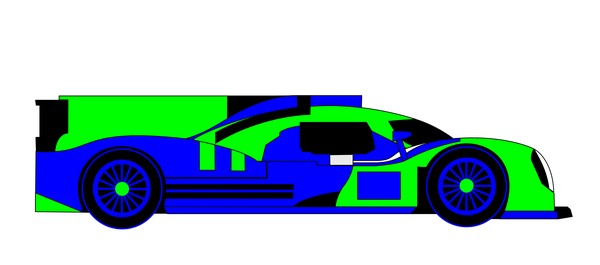 2014 porsche 919 hybrid mirror blue green
