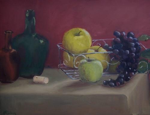 SOLD Basket of Apples