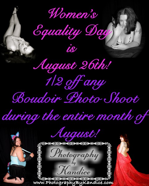 Boudoir Photography - Women's Equality Celebration