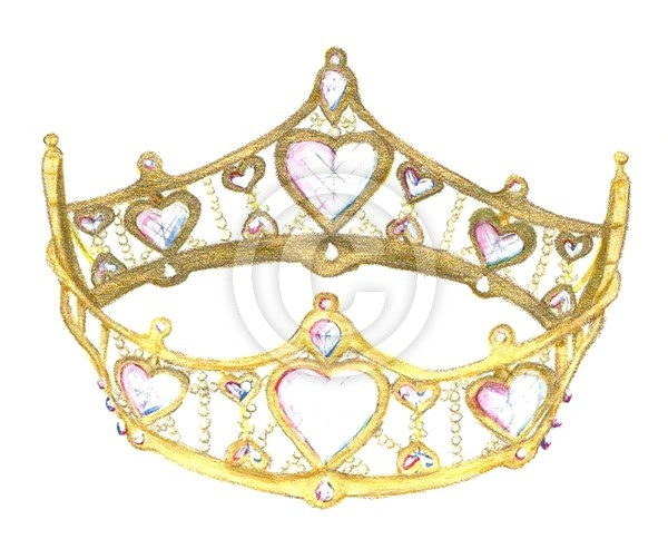 Queen Of Hearts Gold Crown, 2001, Kristie Hubler
