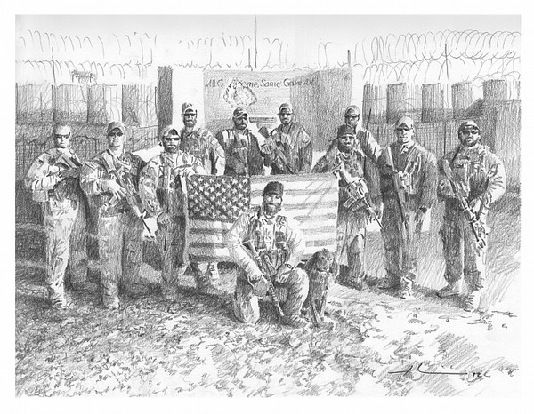 military team drawing mike theuer
