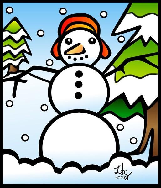 Tiffany Style Snowman