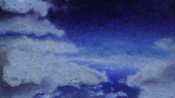 Clouds Impressionist Like Digital Painting