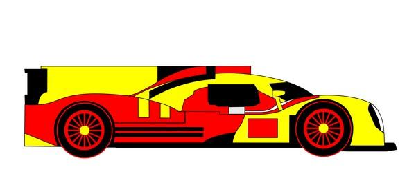 2014 porsche 919 hybrid mirror red yellow