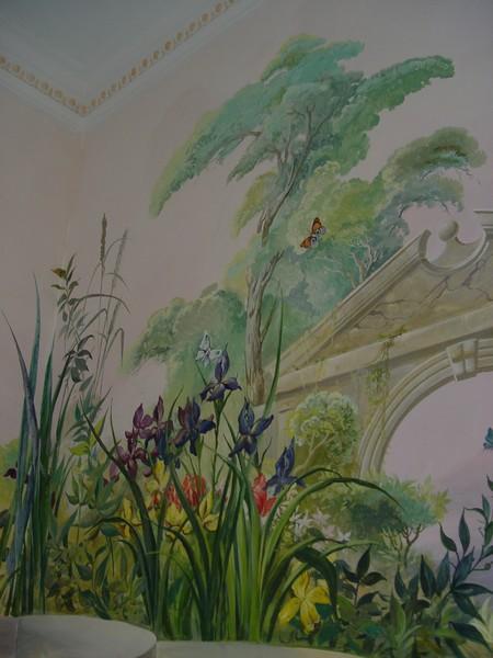 The  Bathroom mural fragment Flowers