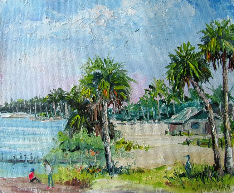 1626 The Girl With The Pink Sneakers Plein Air Alla Prima