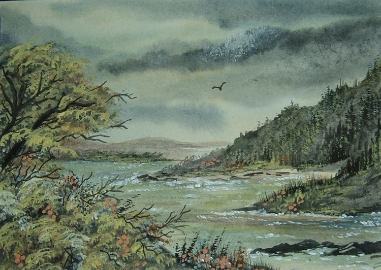 Welsh river landscape