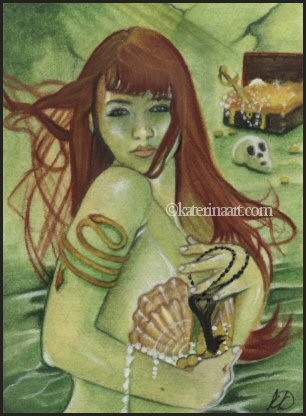 Mermaid's Treasure ACEO