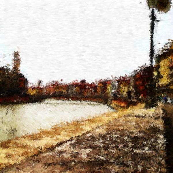 River Arno in Pisa Impressionist Inspired Digital Painting