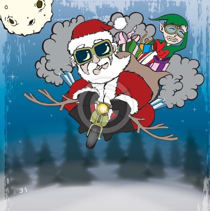 Santa Claus cruisin
