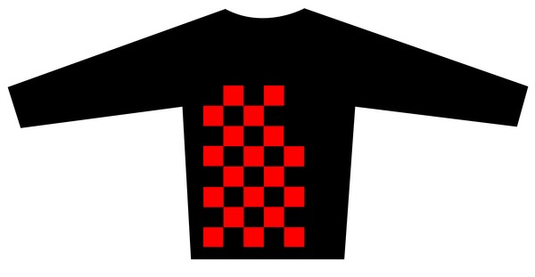 Blouse Design with the Checkered Flag motif  Brand is LONVIG ART