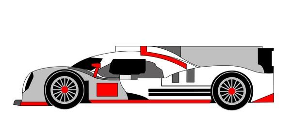 2014 porsche 919 hybrid gray red
