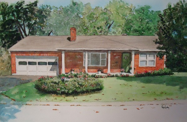 Watercolor Residence Painting