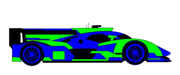 R18 e tron quattro green blue