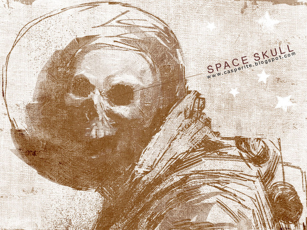 SPACE SKULL SCREENSAVER