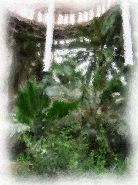 The Glyptotek Wintergarden Impressionist Digital Painting