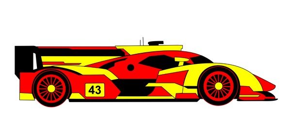 R18 e tron quattro red yellow
