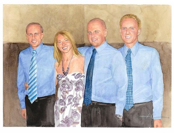 siblings watercolor mike theuer