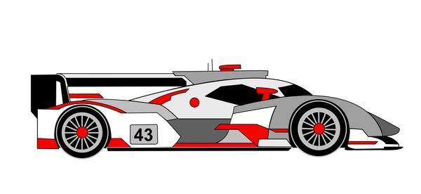 R18 e tron quattro gray red