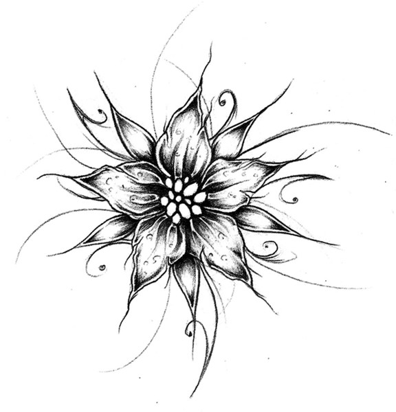 Tattoo Design : Flower I