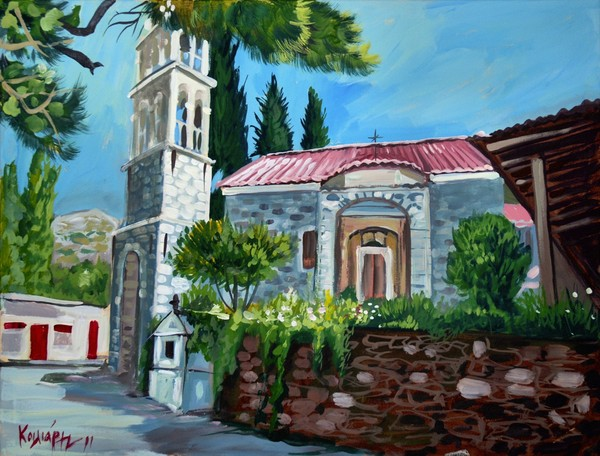 Church at Nenitouria Chios Greece