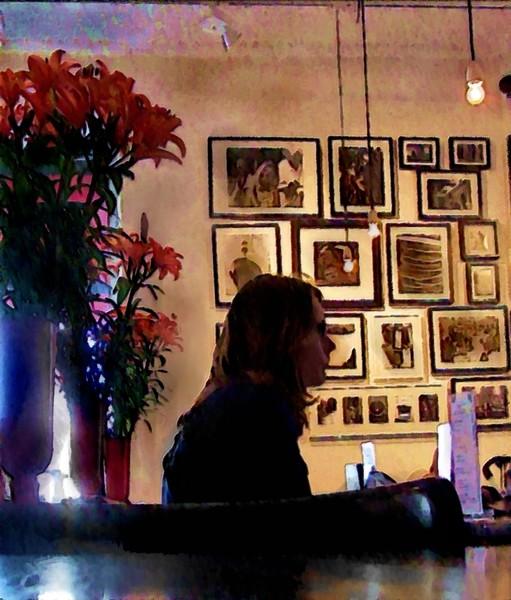 Girl in Café