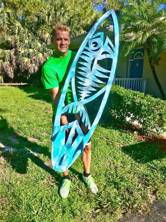 FishBones Carved Surfboard