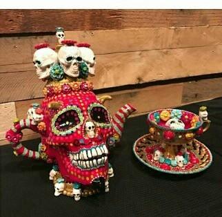Diablo Skull Teapot with Poison Teacup