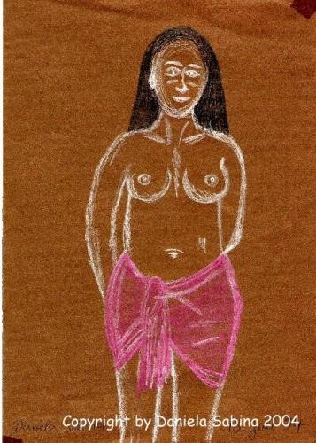 half nude