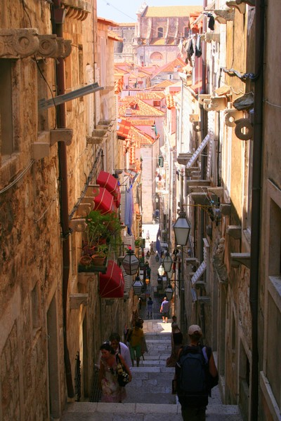 A Narrow Street In Old Dubrovnik