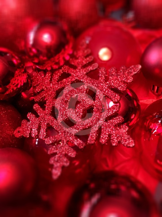Sparkly red snowflake