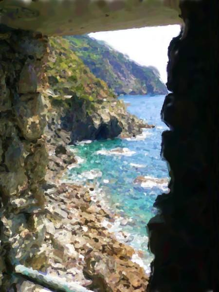 Cinque Terre West Italia Costal View Painting
