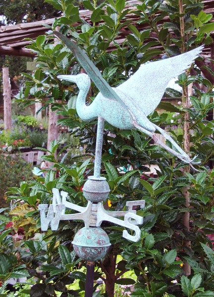 egret weathervane