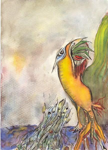 Orange Woodpecker