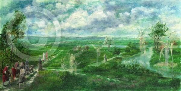 Der Lebenszyklus 80x40 oil on canvas