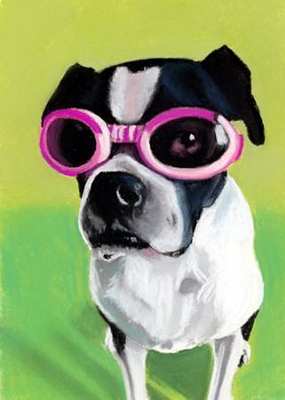 Josie in goggles