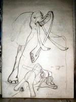 3 elephants tattoo- WIP