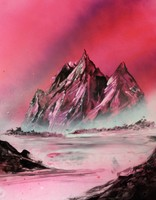 easy way to paint mountains
