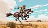 Pony Express Rider - Phone Case Art