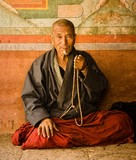 Monk in a rural Monastery