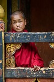 Young Monk in the Paro Dzong, No. 1