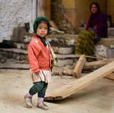 Child at Contruction Site